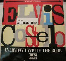 ELVIS COSTELLO everyday i write the book 12in 3 song EP PS UK NEW WAVE OOP L@@K
