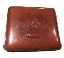New listing Vintage German Wurzburg Castle Brown Leather Cigarette Case