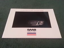 1988 SAAB MILITARY SALES USA 38pg COLOUR BROCHURE 9000 900 S Turbo Convertible