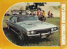 DODGE Challenger 1973 Stati Uniti Mercato PIEGA SALES BROCHURE ITALIANA di Rally