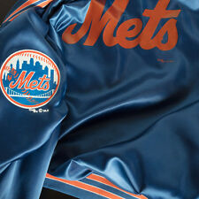 Vintage New York Mets Satin  Jacket Chalk Line  Mens XL X-Large