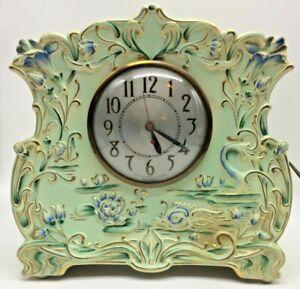 Vintage Large Electric Porcelain Clock-Rare-Conversion