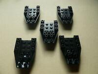 Lego 5 cockpits longs noirs set 6773 2162 6986 6487 / 5 black wedge inverted