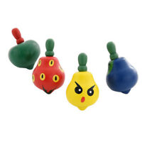 3Pcs Exquisite Fruit Design Wooden Spinning  Toys Leisure Hand Spinning Toys~