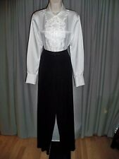 EXCLUSIVELY MISOOK PETITE BLACK STRETCH KNIT CLASSIC MUST HAVE PANTS XS PETITE