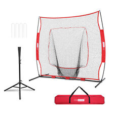 VIVOHOME Baseball Softball Net Strike Zone W/ Portable Batting Tee Training Kit
