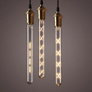 LAMPADA LUNGA LAMPADINA LED FILAMENTO VINTAGE E27 6-7-8W LUCE CALDA RETRO GLOBO