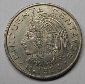 Mexico 50 Centavos 1964Mo Copper-Nickel KM#451 UNC