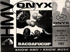 "28/8/93PGN20 ONYX : BACDAFUCUP ALBUM ADVERT 7X10"""