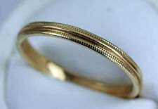Millgrained 3mm Size 12 14K Gold Wedding Band Ring