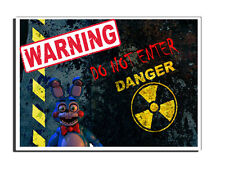 FIVE NIGHTS AT FREDDY'S WARNING DO NOT ENTER BONNIE DOOR SIGN FREE UK DELIVERY
