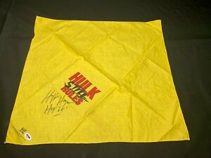Hulk Hogan Signed Hulk Still Rules Bandana WWF NWO PSA AE94407 w/ Inscription