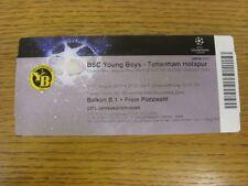 17/08/2010 Ticket: BSC Young Boys v Tottenham Hotspur [UEFA Champions League] .