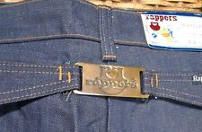 NOS Rappers Denim Buckle Back Vtg Jeans Ooak Sz 16 Slim Mod Back Accent Unworn