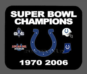 Indianapolis Colts Super Bowl Championship Banner Mouse Pad Item#347