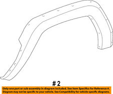 Jeep CHRYSLER OEM-Front Fender Flare Wheel Well Arch Molding Right 5JX26TZZAC