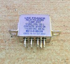 Polarized Relay 5 Amp  2PDT  12VDC coil  125 Ohms    M210-D1BD005       Z2668