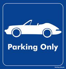 Parking Only-PORSCHE 911 cabriolet-Autocollant