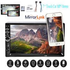 7'' 2 Din Car Radio Bluetooth Stereo MP5 MP3 Head Unit Touch Screen Mirror Link