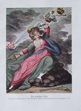 Gillray: Die verlassene Dido - Karikatur Originaldruck aus 1930 Reproduktion
