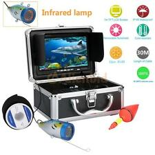 7Inch TFT LCD Fish Finder Underwater 30M Video Camera Color HD 1000TVL Monitor
