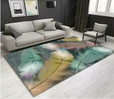 3D Feather Pink Green Non-Slip Rug Door Shower Play Mat Hearth Floor Carpet 64