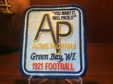 ACME PACKERS HISTORIC JERSEY PATCH,ESTABLISHED 1921 ,GREEN BAY PACKERS