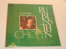 LP CHOPIN a.RUBINSTEIN rca FRL1-7029 LES MAZURKAS n°1-17 RED SEAL 1974
