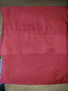 NEW SOFT RED KING SIZE FLAT SHEET BED BEDDING never used CLEAN SOFT @@