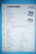 Manuel d'instructions service pour PHILIPS EL 3531 / RK 35 / RT 35, original