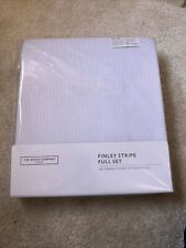 New The White Company Finley Stripe Single Bed Linen,200-Thread-Count, Full set
