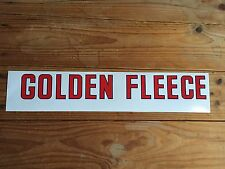 Small Golden Fleece 'text' self-adhesive vinyl decal for petrol bowser