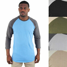 Cotton Baseball T-Shirts Raglan for Men