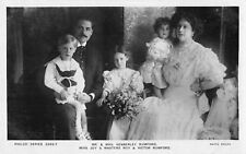 POSTCARD ACTRESSES MR & MRS KENNERLEY RUMFORD & CHILDREN