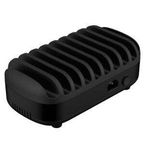 Orico DUK-10P 10 Ports 120W USB Smart Charger Docking Charging Station Black