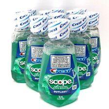 Pack of 12 Crest Scope Outlast Mouthwash 1.2 oz Each Original Mint Flavor