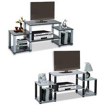 Fernsehtisch TV Lowboard Ständer Regal Rack mit Ablage 136,5x36x57cm