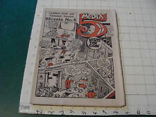 vintage Fanzine: MEDIA 5 issue #4; 1973, rather scarce newspaper zine, COMICS