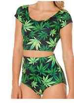Abbigliamento verde per il mare e la piscina da donna taglia S
