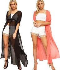 Kurzarm Damen-Pullover & -Strickware mit Wasserfall-Ausschnitt ohne Muster