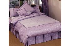 SOPHIA Lilac KING Box Pleated Valance / Bedskirt NEW