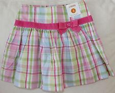 Gymboree NWT 3/3T Fairy Garden plaid skirt pink bow trim SPRING EASTER Dressy