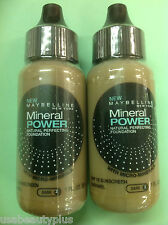 4 X Maybelline Mineral Power Natural Perfecting Foundation CARAMEL ( DARK-2)
