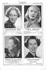 1939 Gwendoline Hill Merla Howard Cicely Hulett Gillian Hume
