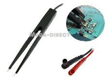 #1032  SMD Test Clip Meter Probe multimeter Tweezer capacitor Open clip distance