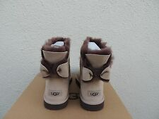 UGG MOONLIGHT NAVEAH BAILEY BOW SUEDE/ SHEEPSKIN BOOTS, US 6/ EUR 37  ~NIB