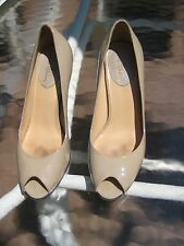 Cole Haan Air Carma Open Toe Pump - Nude Patent Leather Women's Size 8