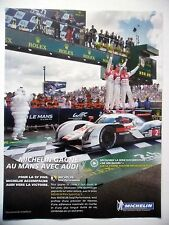 PUBLICITE-ADVERTISING :  MICHELIN 24h du Mans AUDI  2014 Voitures