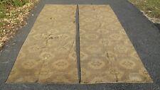 "2 Antique Pennsylvania Victorian End Grain Flat Woven Carpet Rug 36"" x 11""2"""