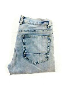 Modern Culture Mens Performance Skinny Leg Light Blue Denim Jeans Size 32X30